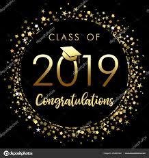 Congratulations Poster Class 2019 Graduation Poster Gold Glitter Confetti Class
