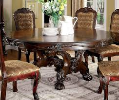 Medieve Cherry Wood Round Dining Table By Furniture Of America