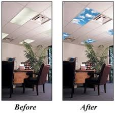 office ceiling light covers. fluorescent light covers for your home or office skyscapes create the same atmosphere as a skylight enhancing ambiance of room ceiling
