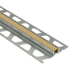 schluter dilex ksn aluminum with light beige insert 13 16 in x 8