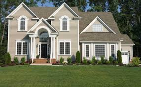 exterior house color combination. color schemes and featured paint products. wood exterior house combination