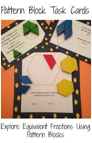Pattern Block Fractions Simple Inspiration Design