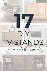 17 diy tv stand plans you can make this