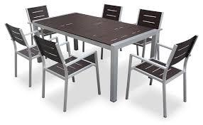 aluminum 7 piece square dining table
