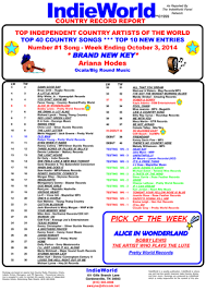 Top 40 Chart Songs 2014 Wildhorse Chart News Whisnews21 Page 9