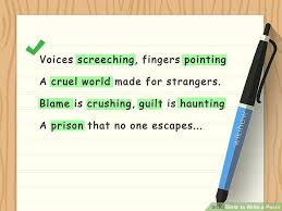 How To Write A Poem With 3 Sample Poems Wikihow