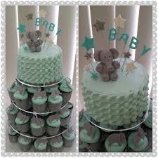 Elephant Baby Shower Cake Cupcakes Cupcake Cakes For Boys