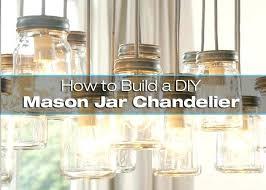 diy mason jar lighting. How To Make Mason Jar Lights Build A Chandelier 2 . Diy Lighting