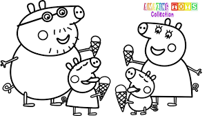 1280x720 how to draw peppa pig family ice cream coloring pages you