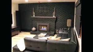 fireplace paint stone painted black mahogany white surround