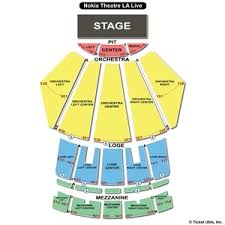 La Live Seating Chart Nokia Theatre Seating Chart View 2019