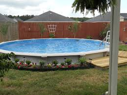 extraordinary image of backyard landscaping decoration using above ground swimming pool landscaping drop dead gorgeous