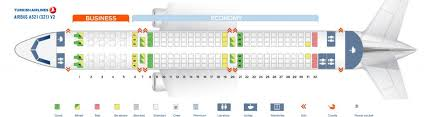 Aircraft A321 Seating Chart Turkish Airlines Fleet Airbus A321 200 Details And Pictures