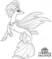 Kids N Fun Kleurplaat My Little Pony De Film Queen Novo Seapony