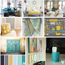 Yellow And Gray Living Room Gray Teal And Yellow Color Scheme Decor Inspiration
