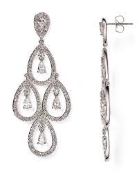 nadri women s metallic kite chandelier earrings