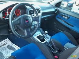 Blue Alcantara Interior 2007 Subaru Impreza WRX STi Photo ...
