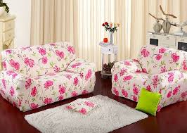 1234Seat Printed Fabric Sofa Covers Stretch Flower Elegant Printed Fabric Sofas10