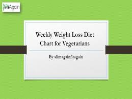 Diet Chart For Vegetarian Weight Loss Weekly Weight Loss Diet Chart For Vegetarians Authorstream