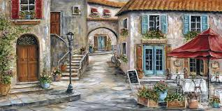 tuscany painting tuscan street scene by marilyn dunlap