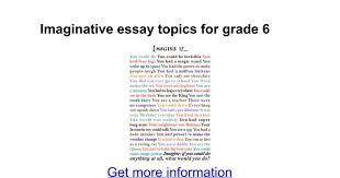 imaginative essay topics for grade google docs