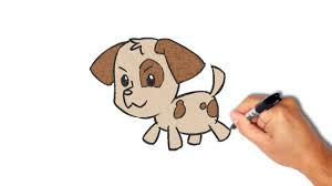 Small Picture How to draw and paint a puppy very simple YouTube