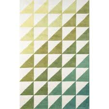 agatha side triangle lime 5 ft x 8 ft indoor area rug
