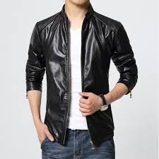 m 6xl men s plus size leather jacket pu leather biker jacket man coat fashion solid