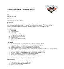 Retail Resume Description Retail Store Manager Job Resume Description Assistant Restaurant