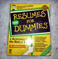 Resumes By Joyce For Dummies Resumes For Dummies By Joyce Lain Kennedy 24 22