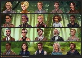 character portraits for the hunger games adventures by funtactix a social game based on the por books s