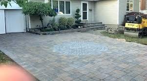 brick pavers over concrete driveway vs 1 inch patio estimator cost