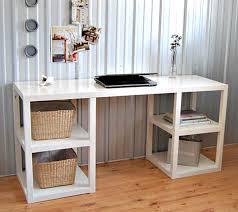 shelf supported diy desk