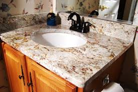 image of inexpensive bathroom countertop options laminate