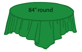 84 plastic round tablecover emerald green