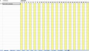 attendance spreadsheet excel excellent monthly attendance sheet template sample in excel with