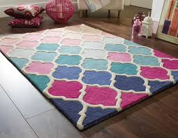 Illusion Wool Rugs  Rosella  PinkBlue  Flair