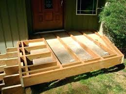 how to build a raised deck over concrete how to build a raised deck over concrete