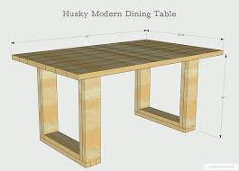 diy dining table plans how to build a chunky modern dining table free plans by diy