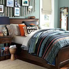 Tween Or Teen Boy Bedroom Blue Gray Orange Striped Quilt Looks ... & Tween Or Teen Boy Bedroom Blue Gray Orange Striped Quilt Looks Easy To Quilt  Shops In Adamdwight.com