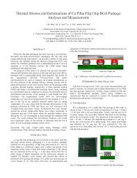 Flip Chip Package Design Pdf Thermal Stresses And Deformations Of Cu Pillar Flip