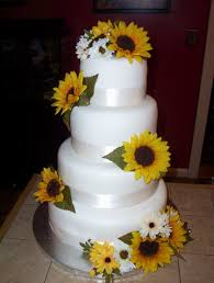 Sunflower And Daisies Wedding Cake Cakecentral Com