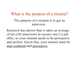 Lesson 40 Writing A Resume Stunning Purpose Of A Resume