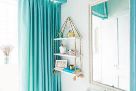 diy suspended rope shelf