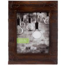 rustic slatted wood wall frame 8 x
