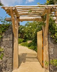 Small Picture Entry Gate Tropical Landscape Hawaii by Saint Dizier Design