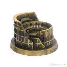 metal roman colosseum statue alloy model italian famous landmark building models figurine retro home office decor 13cm 11 5cm 7cm novelty al gifts