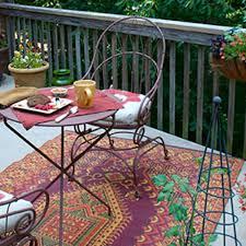 oriental turkish rust outdoor mat 5ft x 8ft