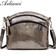 Delicate shiny color <b>100</b>% <b>genuine</b> leather crossbody bags <b>women's</b> ...