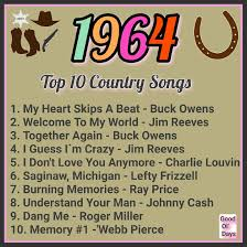 Top Charts Music Country 1964 Country Songs Music Charts Music Songs 60s Music
